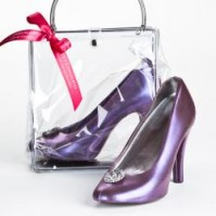 Chocolate High Heel Shoe Wedding Favor